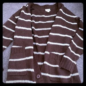 S brown and white Lucille sweater lularoe